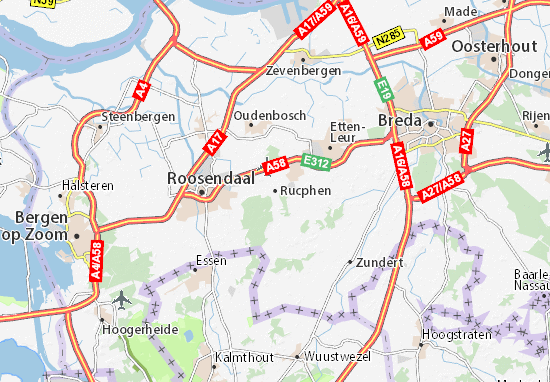 Mapa Plano Rucphen
