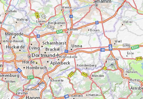 Mapa Unna