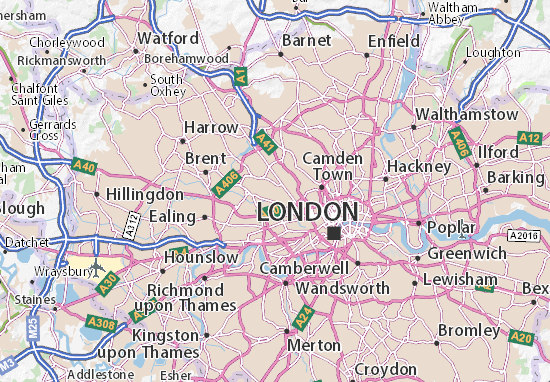 London Tourist Attractions Map.Queens Park Map Detailed Maps For The City Of Queens Park Viamichelin