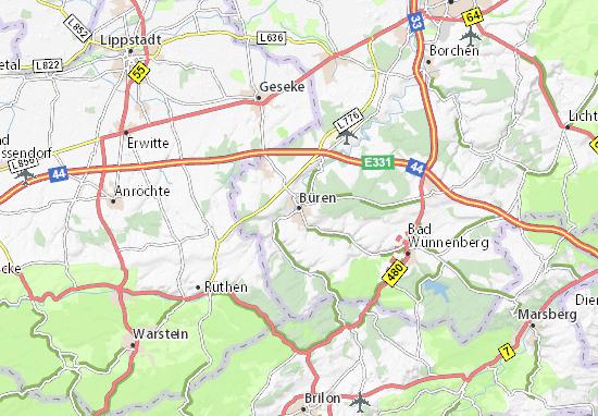 Büren Map