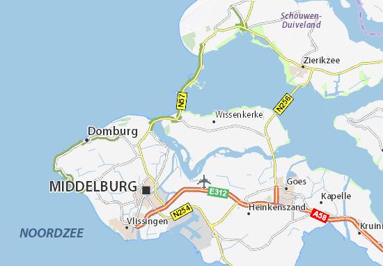 Zeeland Karte Niederlande.Karte Stadtplan Kamperland Viamichelin