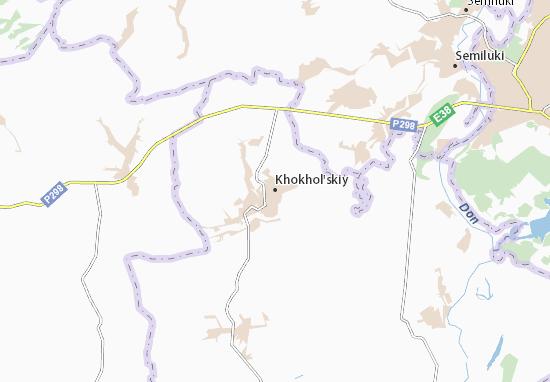 Mapa Plano Khokhol'skiy