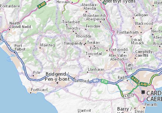 Mapa Plano Hendreforgan