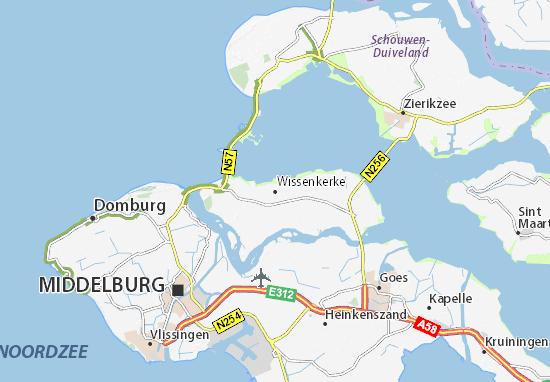 Wissenkerke Map