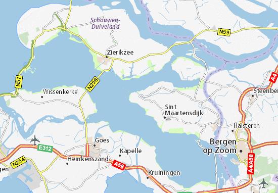 Zeeland Karte Niederlande.Karte Stadtplan Stavenisse Viamichelin