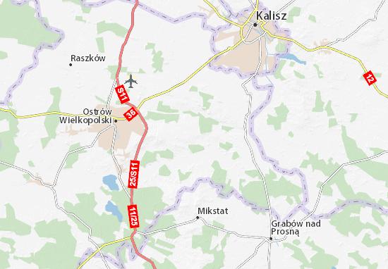 Sieroszewice Map