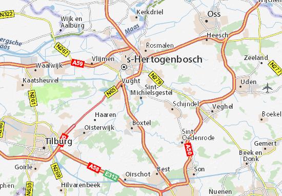 Kaart Plattegrond Sint-Michielsgestel