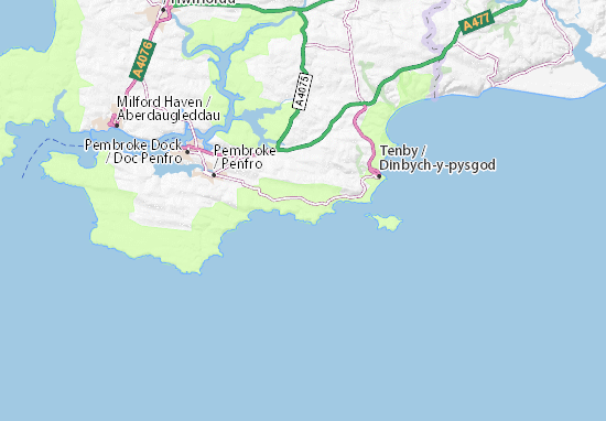 Manorbier Map