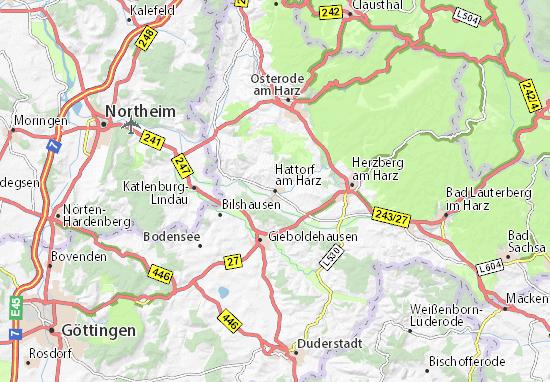 Mapa Plano Hattorf am Harz