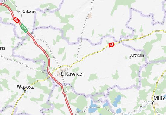 Miejska Górka Map