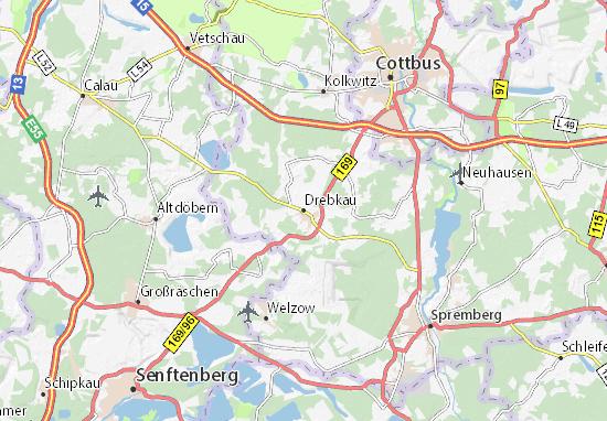 Carte-Plan Drebkau