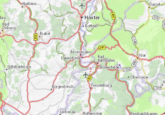 Karte Stadtplan Lauenförde