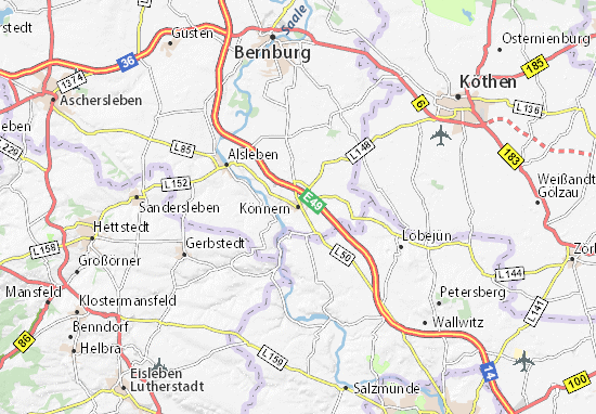 Könnern Map