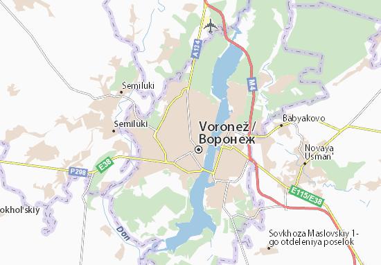 Voronež Map
