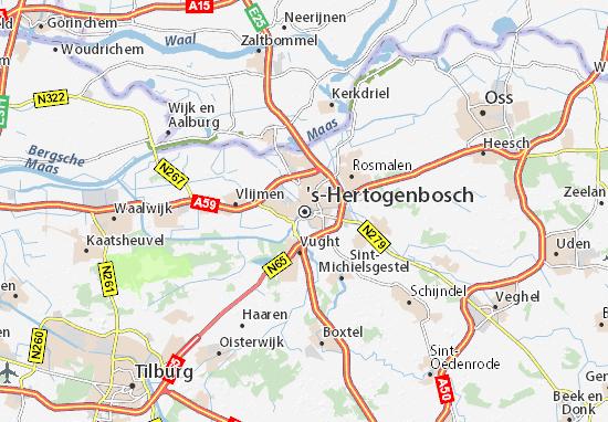Kaart Plattegrond 's-Hertogenbosch