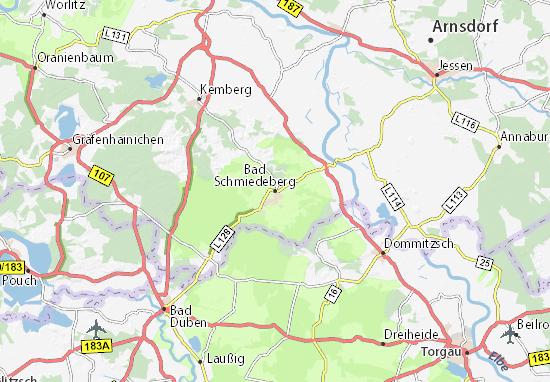Carte-Plan Bad Schmiedeberg