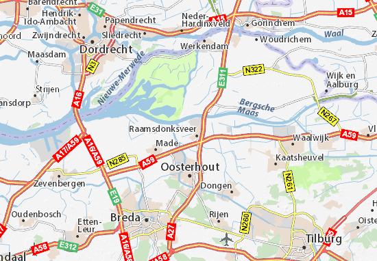 Kaart Plattegrond Geertruidenberg