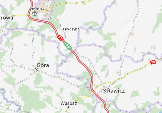 Bojanowo Map