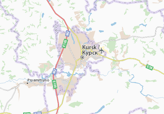 Map Of Kursk Michelin Kursk Map ViaMichelin - Kursk map