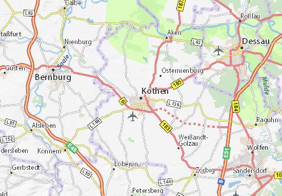 Köthen Map