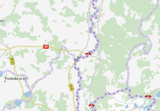 Mapa Sławatycze