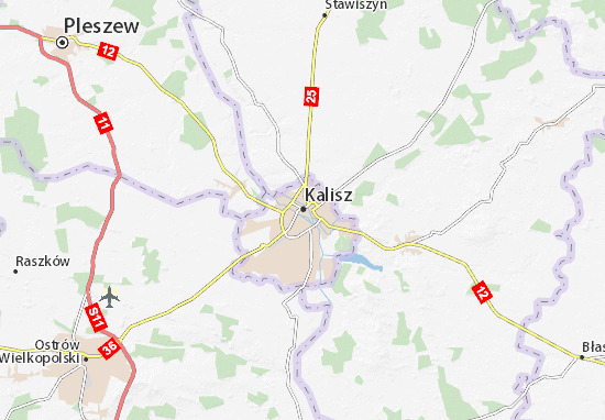Mapas-Planos Kalisz