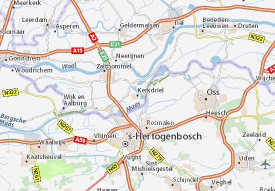 Karte Stadtplan Kerkdriel