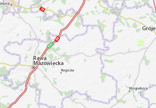 Carte-Plan Biała Rawska