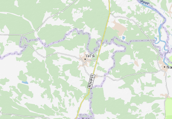 Mapa Plano Yel'sk