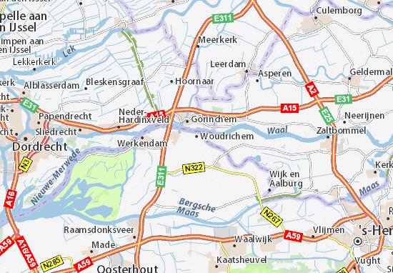 Mapa Plano Woudrichem