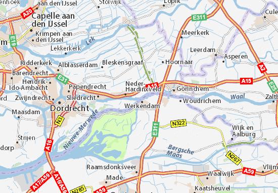 Mapa Neder-Hardinxveld