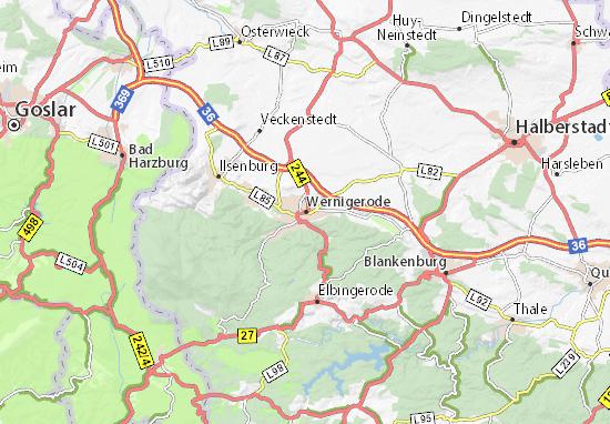 Mapa Plano Wernigerode