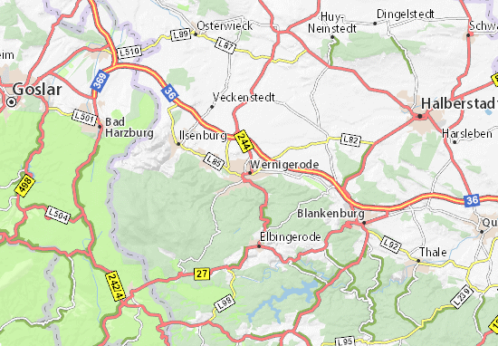 Karte Stadtplan Wernigerode