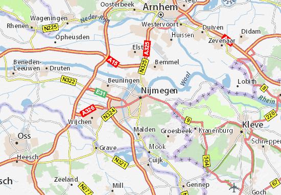 Karte Stadtplan Nijmegen