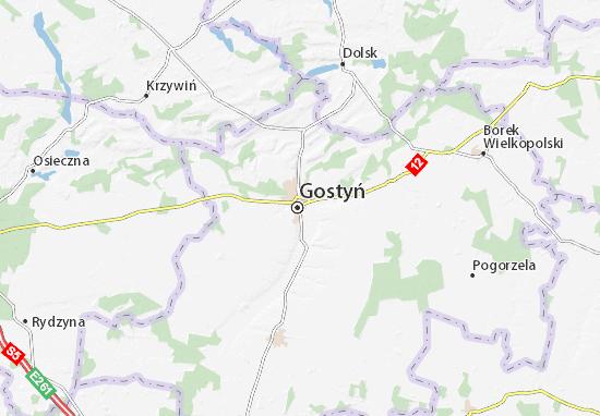 Mapa Gostyń