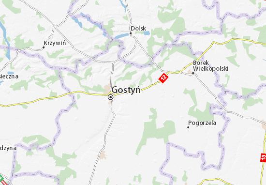 Piaski Map