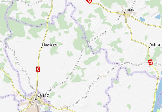 Ceków-Kolonia Map