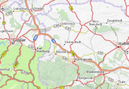 Karte Stadtplan Veckenstedt