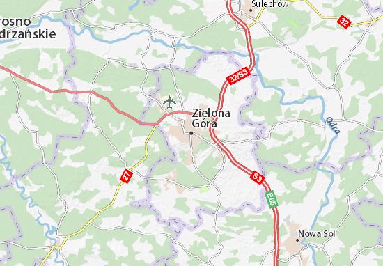 Karte Stadtplan Zielona Góra