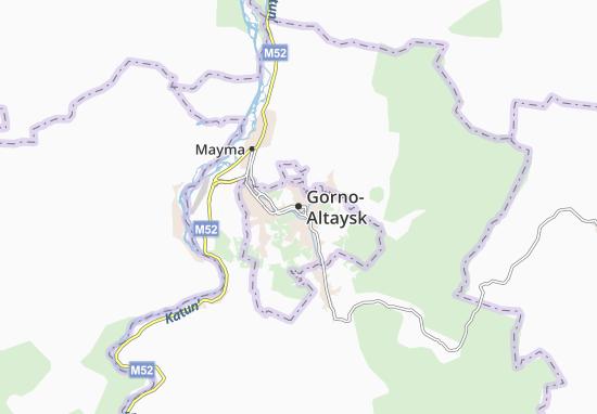 Kaart Plattegrond Gorno-Altaysk
