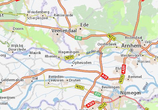 Karte Stadtplan Wageningen