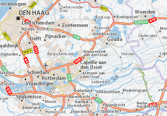 ijssel kaart Kaart van Nieuwerkerk aan den IJssel  plattegrond van Nieuwerkerk