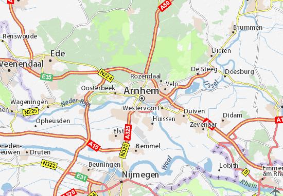 Mapa Arnhem