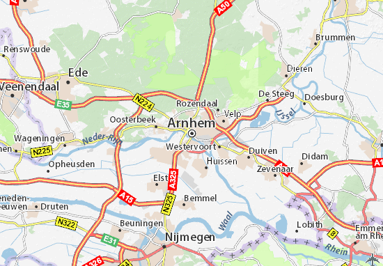 Kaart Plattegrond Arnhem