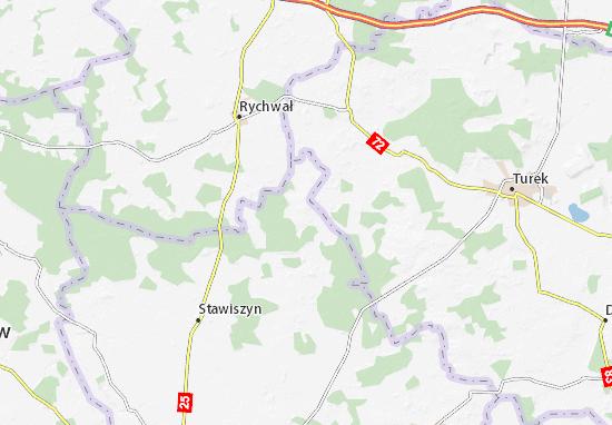 Dzierzbin Map