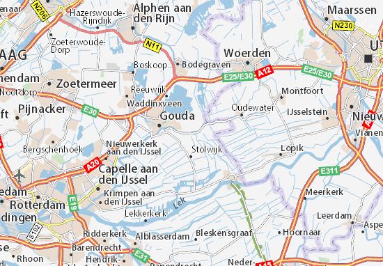 Kaart van Haastrecht- plattegrond van Haastrecht- ViaMichelin