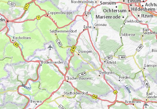Karte Stadtplan Duingen