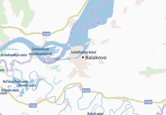 Carte-Plan Balakovo