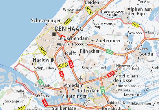 Kaart Plattegrond Pijnacker
