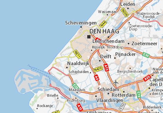 Map of Wateringen - Michelin Wateringen map - ViaMichelin